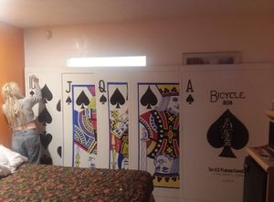 Royal Flush - Spades (or any suit) 6 feet tall 4 feet wide for Sale in Tempe, AZ