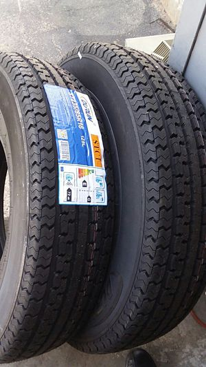 Trailer tires 14 ply load range E for Sale in Pflugerville, TX