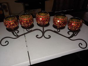 Candle holder with Globes for Sale in Denver, CO