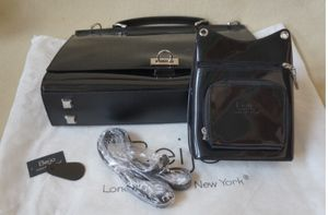 Beijo Couture Messenger Business Purse and Briefcase Patent Leather bag set. MINT for Sale in Austin, TX