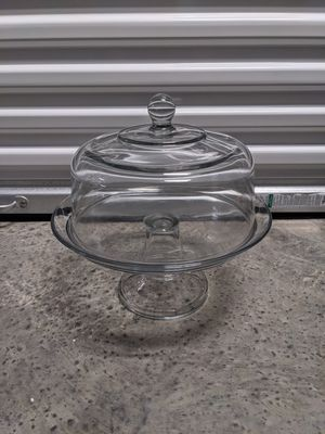 Glass dessert stand with dome cover for Sale in Miami, FL