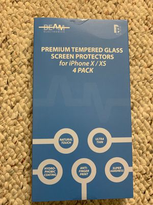 New Iphone X/XS tempered glass screen protector-4pack for Sale in Edison, NJ