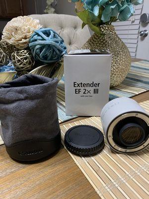 Canon EF 2.0X III Telephoto Extender for Canon Super Telephoto Lenses for Sale in Henderson, NV