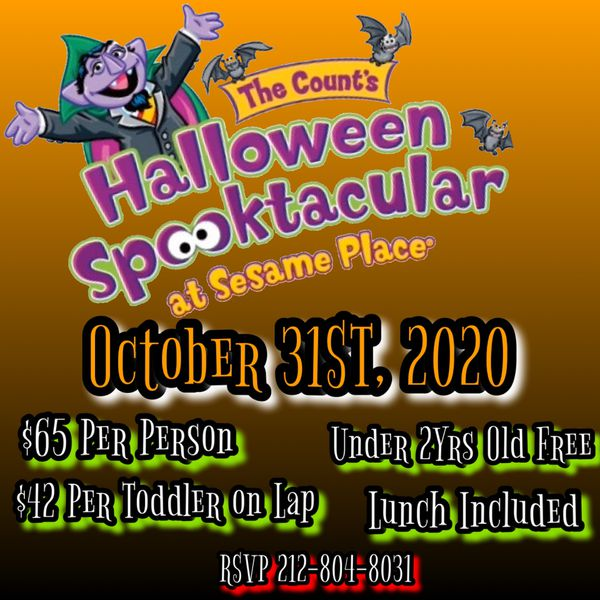 Sesame Place trip for Halloween 10/31