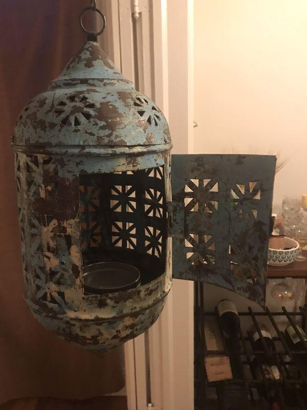 Spanish style antique lantern fixture