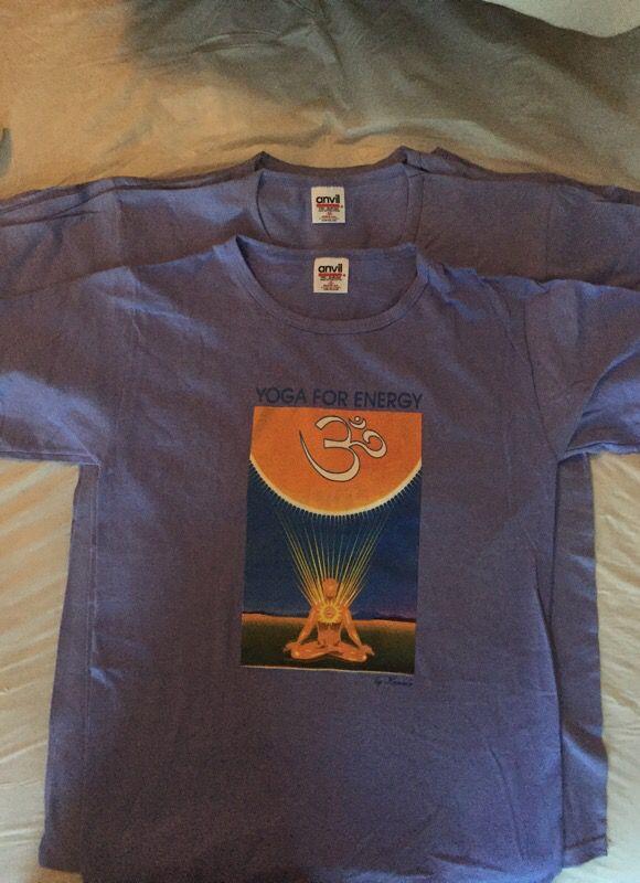 """Lavender """"Yoga for Energy"""" T-shirt's"""