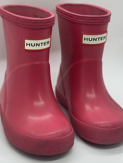 Toddler pink Hunter Boots Size 4 for Sale in San Jose,  CA