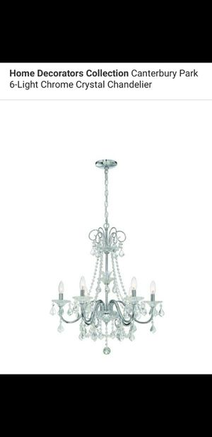 6 light chrome chandelier for Sale in Bakersfield, CA