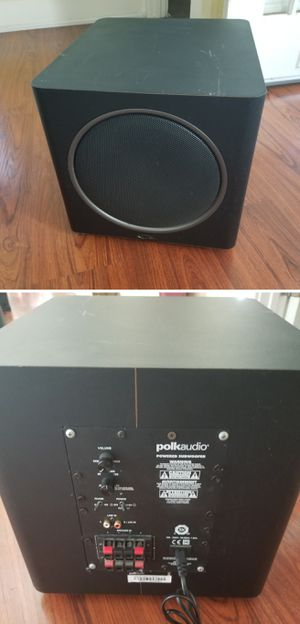Polk audio 12inch powered subwoofer speaker for home stereo system for Sale in Long Beach, CA