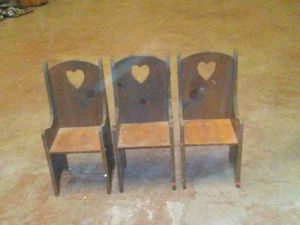 Antique Heart Schoolhouse Chairs for Sale in Pike Road, AL