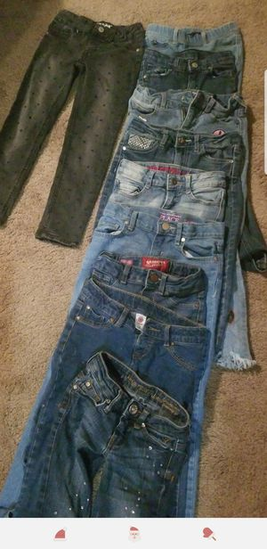 Little girls Jean's nice brands size 6 and 7 for Sale in Springfield, OR