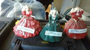 Holiday collectible barbie dolls 1993 1996 1999 Christmas ornaments for Sale in St. Petersburg, FL