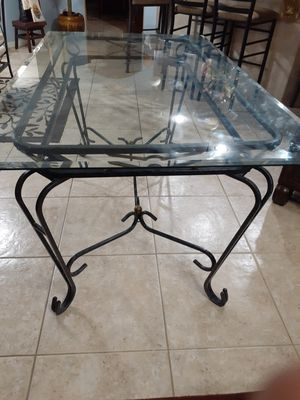 Cast Iron 4 seater dining table for Sale in Port St. Lucie, FL