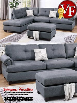 **SAVER** 3PCS SECTIONAL SOFA+CHAISE+AUTTOMAN $498 for Sale in Covina, CA