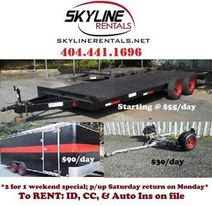 Tow dolly trailers moving cargo flatbed haulers for Sale in Norcross, GA
