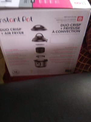 instant pot Duo Chris and air fryer brand new never opens price at store 179 99 for Sale in Lincoln Acres, CA