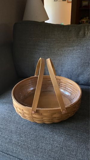 Longaberger basket 🧺 only display for Sale in Puyallup, WA