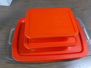 Red Pyrex pans for Sale in Aurora, CO