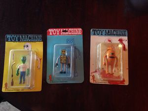 Ultra rare complete set of Toy Machine skateboard figures/ Ed Templeton for Sale in Queen Creek, AZ