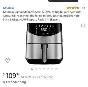 Gourmia digital air fryer 6qt new in box for Sale in Hesperia, CA