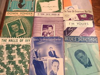 Over 65 Vintage Sheet Music Arrangements From Various Artists for Sale in DeLand,  FL