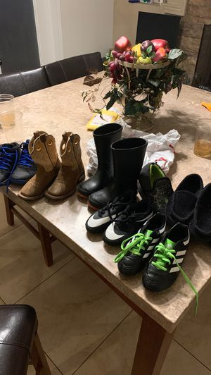 Kid boots, rain boots, sneakers and Cleats. Size 12 1/2 for Sale in Phoenix, AZ