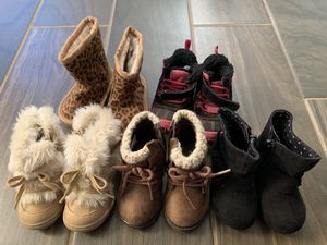 5 Pair of Toddler Girl Boots Size 3. Most Never Worn! for Sale in North Saint Paul, MN