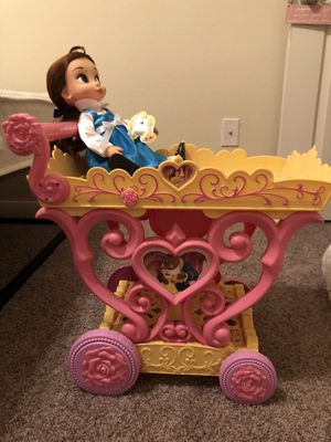 Beauty and the Beast cart and Belle doll for Sale in San Antonio, TX