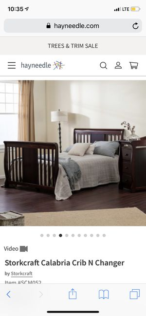 Baby brown wooden crib for Sale in Alexandria, VA