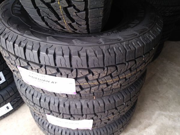Brand new never mounted Coopers Tires LT 295 70 18 inch tires all terrains 10 ply