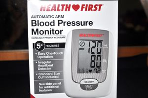 Health First Automatic Arm Blood Pressure Monitor, 5 Features - NEW for Sale in Phoenix, AZ
