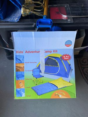 Kids Adventure Camp Kit ** sleeping bag, tent, folding chair and flashlight for Sale in Peoria, AZ