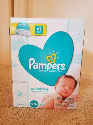 Pampers 576 wipes 9pk for Sale in Pleasanton, CA
