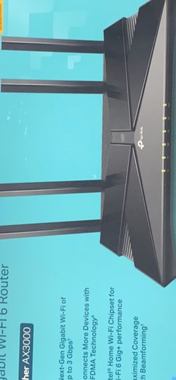 Tp-link Archer Ax3000 Router for Sale in Silver Spring,  MD