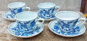 Blue Danube set of 4 cups and saucers made in japan for Sale in Saginaw, MI