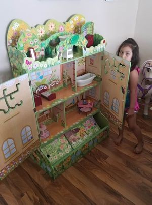 Fairy doll house with toy storage 4ft for Sale in Chicago, IL