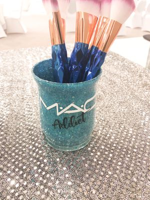 Handcrafted Makeup Addict Brush Holder for Sale in Columbus, OH