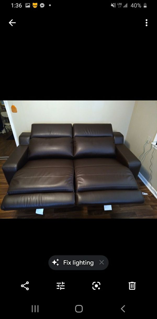 Leather IKEA reclining couch