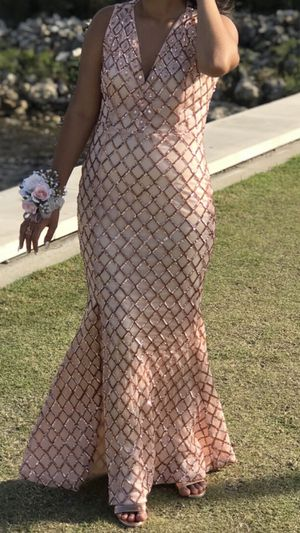 Pink and Gold Prom Dress for Sale in Kissimmee, FL