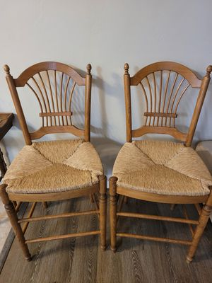 Two beautiful solid wood counter chairs for Sale in El Cajon, CA