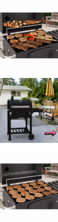 NEW Charcoal Grill Outdoor Bbq Smoker Stainless Steel Portable Camping Backyard Barbecue Chimney Black Cooker Searing Food Grilling Crank *↓READ↓* for Sale in Chula Vista, CA