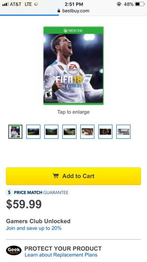 Fifa 18 for sell Xbox one for Sale in Lake Stevens, WA