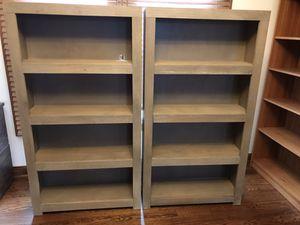 Two new modern gray farmhouse bookshelves for Sale in Dublin, OH