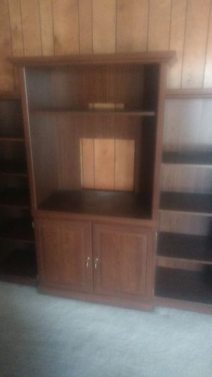 Free wood entertainment center for Sale in Hayward, CA
