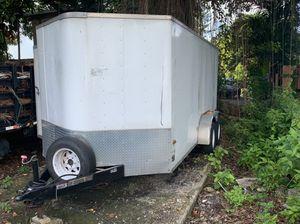 Enclosed Tandem 7x14 Trailer for Sale in Miami, FL