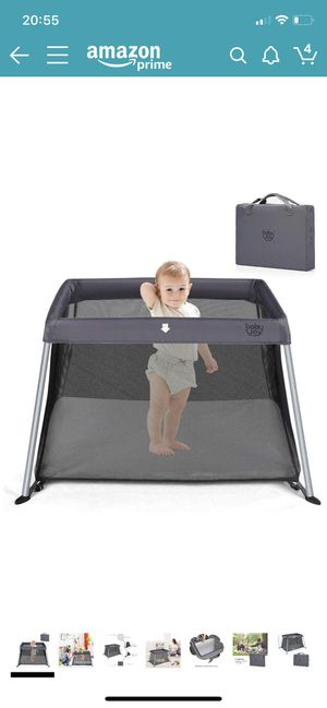 Brand New BABY JOY Playpen; portable travel crib with comfy mattress for Sale in Mountlake Terrace, WA