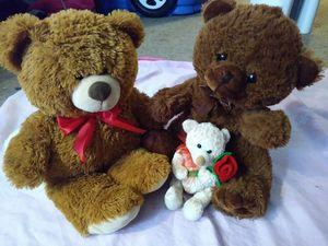 3 stuffed teddy bears for Sale in Salem, OR