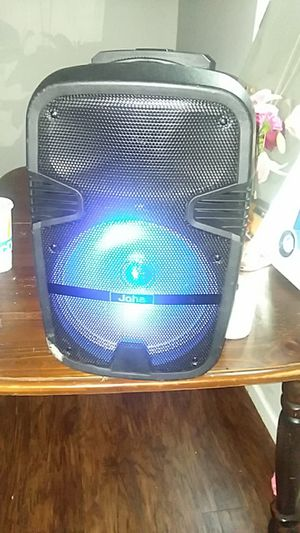 Joha portable speaker includes karaoke Bluetooth radio and axillary for Sale in Columbus, OH