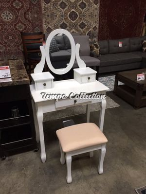 Vanity Set with Stool, White, SKU# ASHB502-22TC for Sale in Santa Fe Springs, CA
