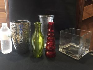 Assorted flower holders / vases !! for Sale in Hollywood, FL